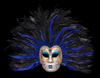 Volto Piume Sera Blue Full Face Feather Mask
