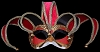 Colombina Jolly - Red - Venetian Jester Eye Mask