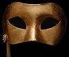 Colombina Piana Fancy Gold Stick Venetian Mask