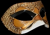 Columbina Deco Fly - Gold - Authentic Hand Made Venetian Mask