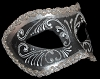 Colombina Decor Era - Fancy Masquerade Mask - Silver/Black