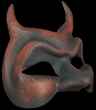 Diavolo - Authentic Hand Made Venetian Mask - Red