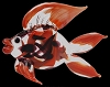 Murano Glass Fish Black/Orange
