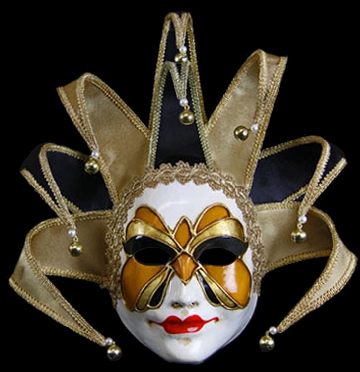 Hand Made Jester Mask, Gold Jester Mask - Venetian Mask ...
