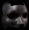 Gattino Graz Flexible Black Leather Cat Mask