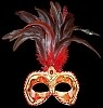 Colombina Ciuffo Cordone -  Venetian Feather Mask