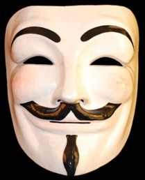 Guy Fawkes - Vendetta Mask -  Anonymous A Mask