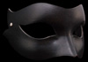 Lady Leather - Flexible Black Leather Venetian Eye Mask