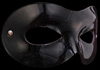 Colombina Flexible Glossy Black Leather Venetian Eye Mask