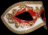 Columbina Occhi - Red - Authentic Hand Made Venetian Mask