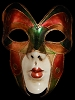 Volto Butterfly Bronze Fancy Fantasy Full Face Venetian Butterfly Mask