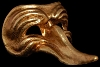 Gold Long Nose Venetian Mask