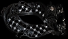 Black Mon Amore - Laser Cut Venetian Mask with Crystals