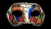 Colombina Arlecchino - Authentic Venetian Mask