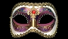 Colombina Arco Strass - Multi-color Crystal Eyeliner Venetian Eye Mask
