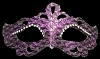 Colombina Punta Star - Fancy Glitter Venetian Eye Mask - Purple/Black