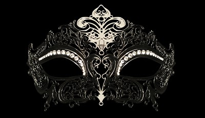 Queen Strass - Laser Cut Venetian Mask with Crystals