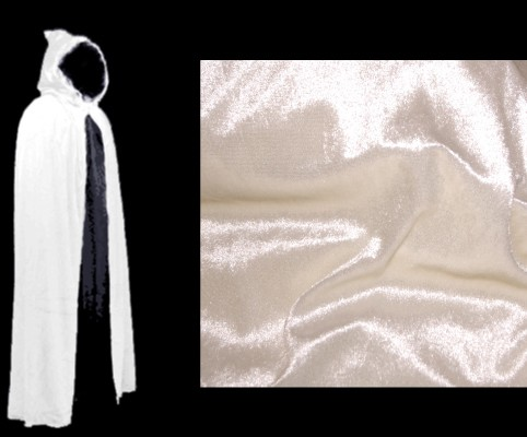 White Cloak - Authentic Venetian Hooded Cloak for Masquerade Parties