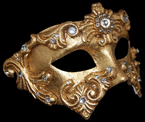 Colombina Baroque - Gold - Authentic Hand Made Venetian Mask