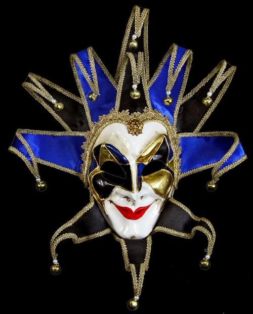 Blue Joker Mask, Venetian Joker Reale Mask - Venetian Mask ...