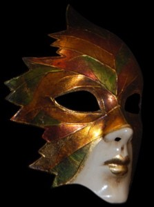 Volto Foglia - Fancy Fantasy Full Face Venetian Leaf Mask
